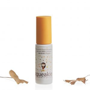 squeakie hand sanitiser with leaves